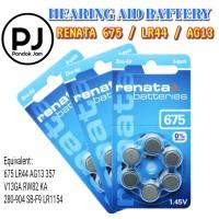 [ORIGINAL] Baterai Renata 675 PR44 AG13 LR44 6 Pcs Hearing Aid Battery