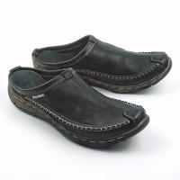 Sendal Sepatu Pria BS01 Sepatu Sandal Bustong Slop Kulit Asli