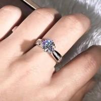 Cincin Sterling Silver 925 Zircon cincin wanita tunangan lamaran kado