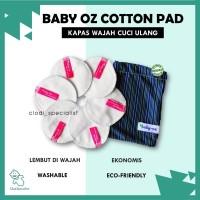 ORIGINAL Baby Oz Cottonpad/ Pembersih Wajah Makeup Cuci Ulang