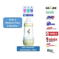 Botol Susu MAM Anti Colic Bottle 0+ Months 260ml - Ivory / Putih