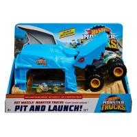 Hot Wheels Monster Trucks Team Shark Wreak Pit And Launch! Set