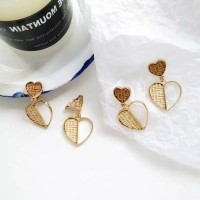LOVE clip earring / anting jepit no pierced / anting klip earclip mura