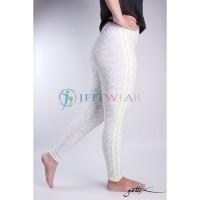 Celana Yoga GOTTEX Legging White Leopard & Strip - Baju Senam Olahraga