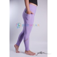 Celana Yoga GOTTEX Purple & mesh strip - Legging Senam Fitness