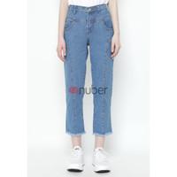 Celana Panjang Wanita Jeans Boyfriend Blue Rumbay Nuber - Jasmine