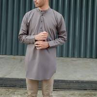 Kemeja Muslim Koko Qurta/ kurta Pria - grey
