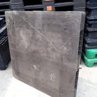 Pallet plastik bekas model Flat ukuran 110x110x14 cm