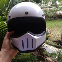 Helm Cakil Retro Model Lil Skull Custom