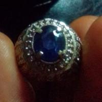Cincin Batu Mulia Safir Biru Natural Star Blue Sapphire Asli Alam