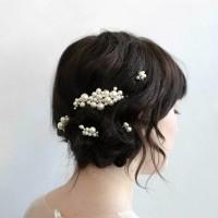 AR061 set pearl wedding accesories pesta headpiece