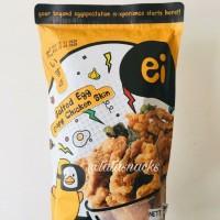 Keripik Ei Salted Egg Crispy Chicken Skin / Kulit Ayam Salted Egg