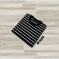 Kaos Stripe Medium Stripe Black Kaos Belang-belang Kaos Salur