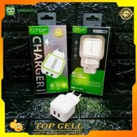Adapter Charger QTOP LED 3.5A 2USB PORT Batok Charger Qtop Led Murah