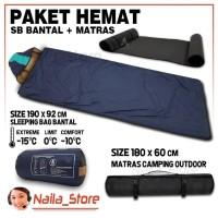 Sleeping Bag Bantal SB Ultralight Plus Matras Camping GradeOri- PAKET