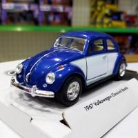 VW Beetle Door Colour (BLUE) Diecast Kinsmart Miniatur Mobil Klasik
