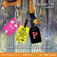 Luggage Tag Name Tag Tas Label Koper Nama ID Card Tas Custom acrylic