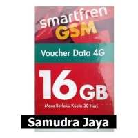 VOUCHER PAKET DATA SMARTFREN 16 GB ( SMART INTERNET 16GB 30 HARI )