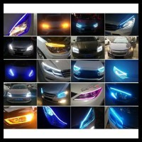 Lampu Alis Led Slim Alis Drl Mobil Fleksibel Waterproof 60Cm 2 Warna