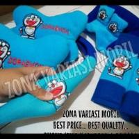 Paket Bantal 3 In 1 + Sarung Stir Mobil Motif Doraemon Biru