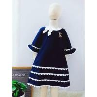 Fashion Anak Dress anak luxury 1068 4 warna pilihan