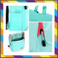 tas ransel kulit Backpack Biru. Sekolah SN2013K Tas Import Laptop Fash