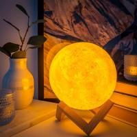 (harga terjangkau) 880ML Air Humidifier Moon Lamp Aromatherapy