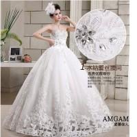 Gaun Baju PENGANTIN GPYLBA 01 Wedding Dress Payet Premium Import