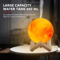 (harga terjangkau) New 880ML Air Humidifier 3D Moon Lamp light