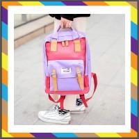 tas punggung pria Wanita Sekolah Korean Ransel Tas Fashion Laptop Jala