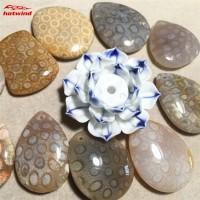 HW Perhiasan Liontin Kalung Handmade DIY Desain Batu Permata Coral