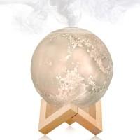 (PROMO) 880ML Air Humidifier Moon Lamp Aromatherapy Diffuser LED