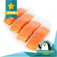 Norwegian Fresh Salmon Fish Fillet Ikan Salmon Filet Kirimi 1 kg Prime