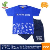 Skabe Baju Anak Laki Laki The Future Setelan Jeans Usia 3-9 Tahun 3205 - Biru, 4