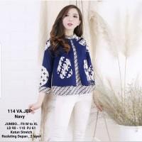 Blouse Batik 2 Layer Lengan Panjang / Batik Atasan Wanita