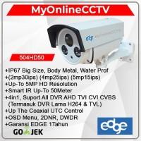 Paket Kamera CCTV Outdoor Edge 5MP UHD DVR 4K 4in1 Setara Hikvision
