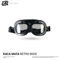 JP Retro Goggle Black - Clear 02