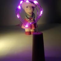 Lampu string hias peri tumblr tutup botol 1m pink keunguan