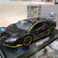 Mainan Diecast Mini Auto Top Model Lamborghini Black Light and Sound