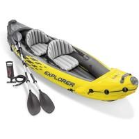 Perahu Karet Kayak Explorer K2 Fullset Dayung dan Pompa Free Intex