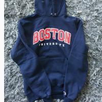 Jaket Sweater Hoodie BOSTON UNIVERSITY CHAMPION Logo Created