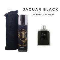 Parfum Jaguar Black Parfum pria non alkohol Tahan Lama kokulu Perfume