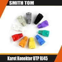 PLUGBOOT Isi 100 Pcs/Karet Konektor UTP RJ45/Plug Boot/Pelindung RJ