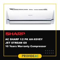 AC SPLIT SHARP 1/2 PK R32 LOW WATT THAILAND INVERTER AH-X6VEY