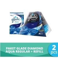 Paket Glade Diamond Aqua - Regular + Refill