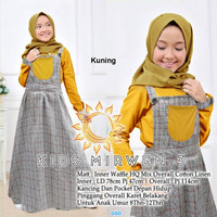 Kids mirwen/set overall muslim anak/fashion muslim anak murah terbaru