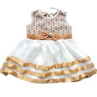 Eigia Dress Baju Pesta Anak Bayi Perempuan Gold Lilie Gaun Kondangan R