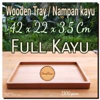 Nampan kayu 42x22x3,5 Wooden tray full Kayu kotak seserahan hantaran