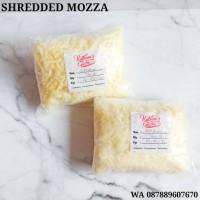 Shredded mozzarella 250gram - mozza iris/parut - keju melted