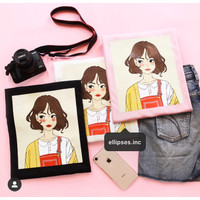 Tumblr Tee/T-Shirt/Kaos Wanita Lengan Pendek SHE WAS PRETTY - ELLIPSES